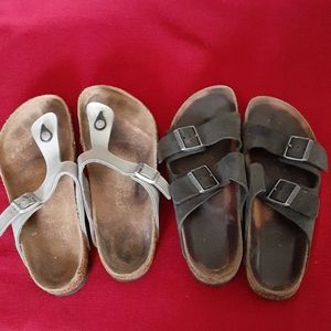Birkenstock sandals bundle.Size 41 2pairs